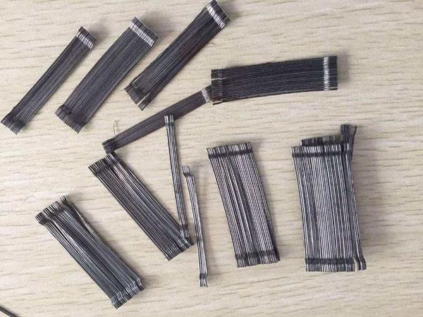 水溶性胶连成排钢纤维